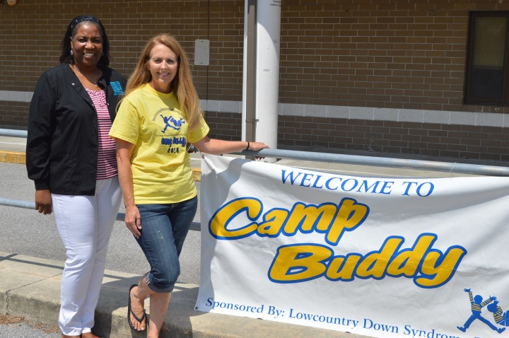 Lori Watkins, Certified Medical Assistant at Low Country Dermatology, and Pam Hussey, LDSS Camp Buddy Director (1)