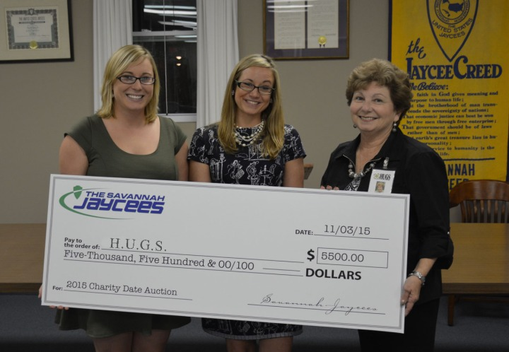 Jaycees Check Presentation to HUGS