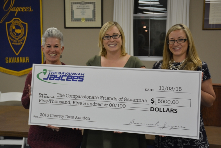 Savannah Jaycees Present The Compassionate Friends of Savannah Check