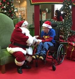 Savannah Mall%27s Caring Santa meets with Michael Robinson