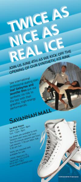 Savannah Mall Synthetic Ice Rink Flier