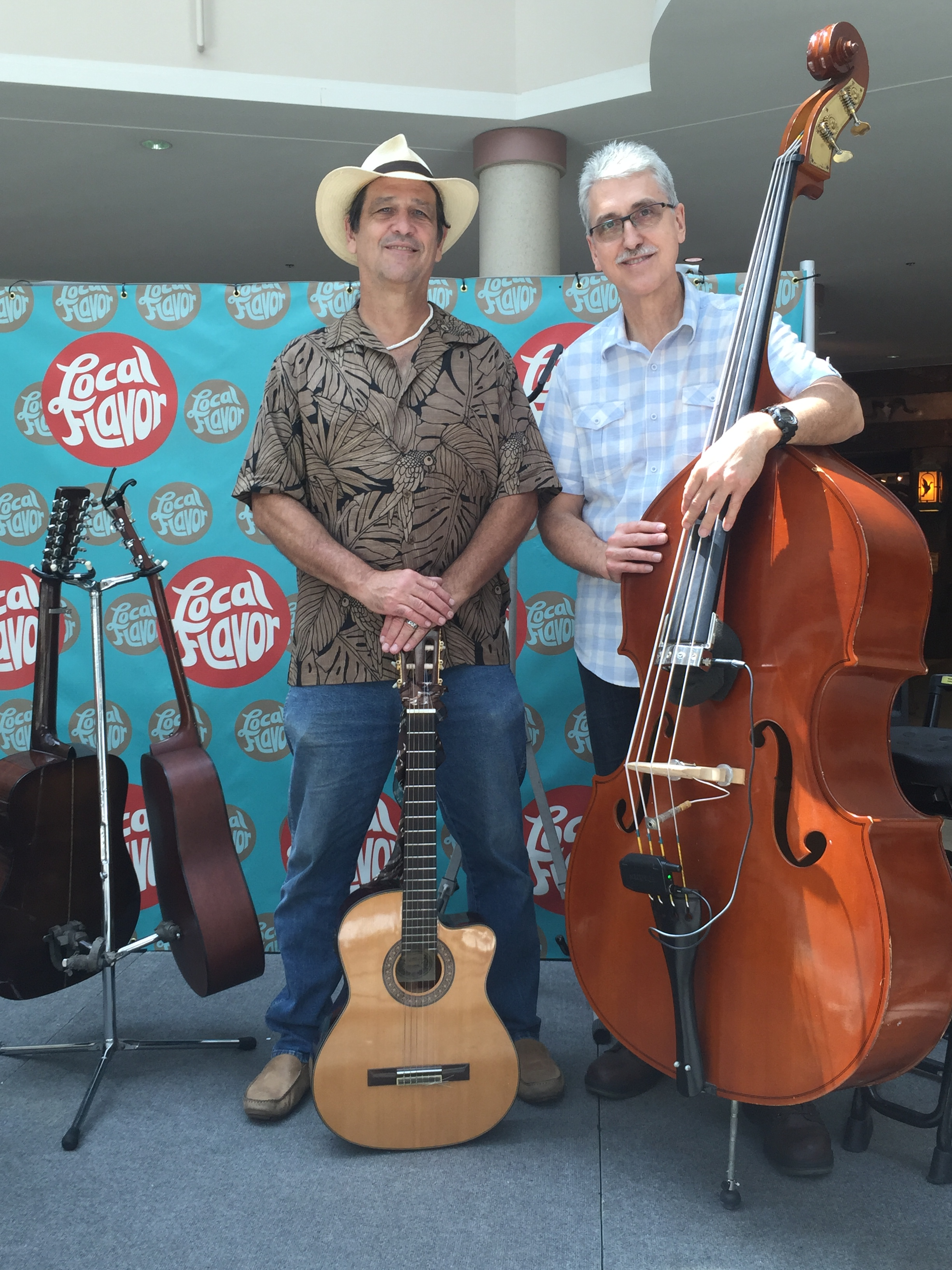 """Mike Perry (LEFT) and Gordon Perry (RIGHT) perform at The Savannah Mall's """"Second Saturday of the Month"""" celebration."""